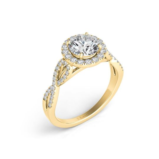 S. Kashi & Sons engagement ring in gold