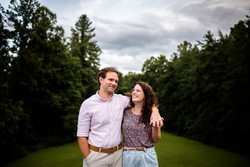 Gina and sam's camp engagement session in south asheville, nc