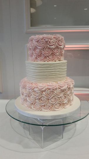 Pink and rosy cake