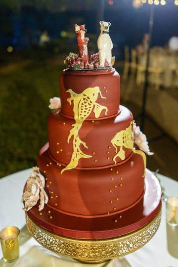 Dancing Koi Wedding Cake