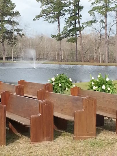 Ceremony by the pond