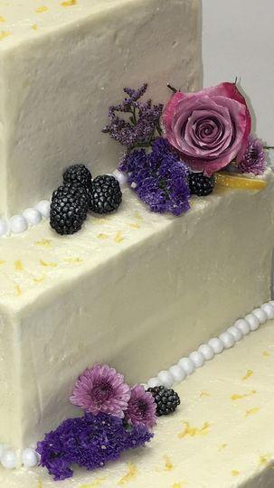 GF Lemon blackberry cake