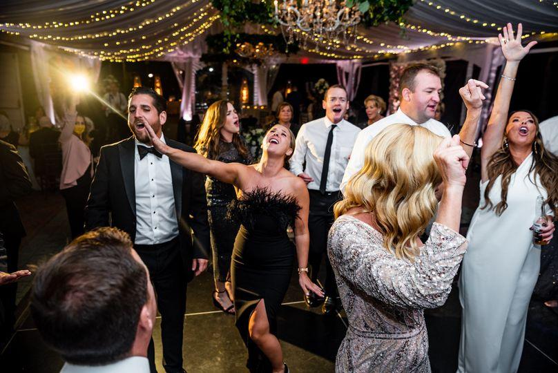 Black tie dancing