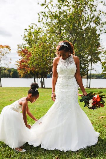 The bride and the child