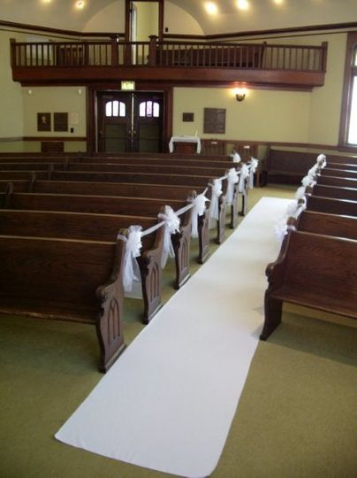 A view from the altar.