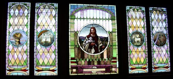 Another of the original stained glass windows.