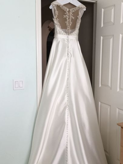 Long Wedding Gown after cleaning but before putting into the box
