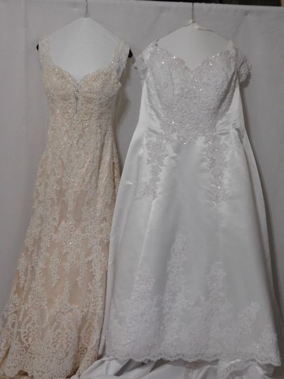 Just processed 7 wedding gowns last week. (5+2)  2 in this picture.