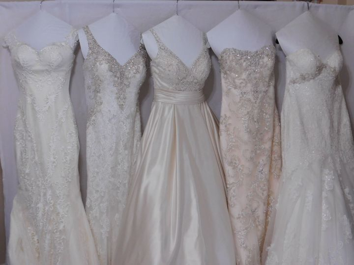Just processed 7 wedding gowns last week. (5+2)  5 in this picture.