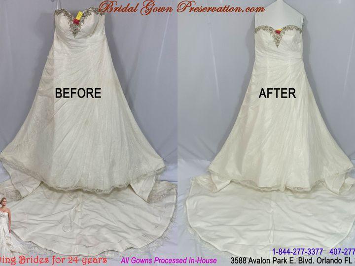 Tmx 69966 Kathleen Suarez Wedding Gown Cleaning Beforeafter 01 2021 51 1004903 161223382779143 Orlando, FL wedding dress