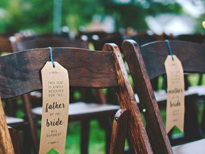 Tmx 1460059184506 Diy Wedding Ceremony Chair Reserved Signs0012 Perth Amboy wedding invitation