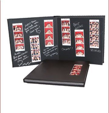 Guest book with film strips