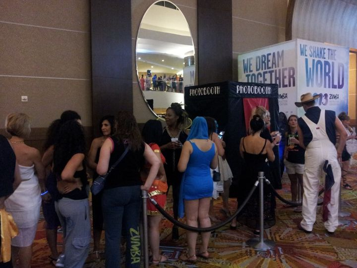 Line for the booth