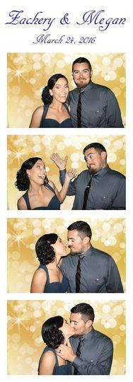Couple and gold backdrop