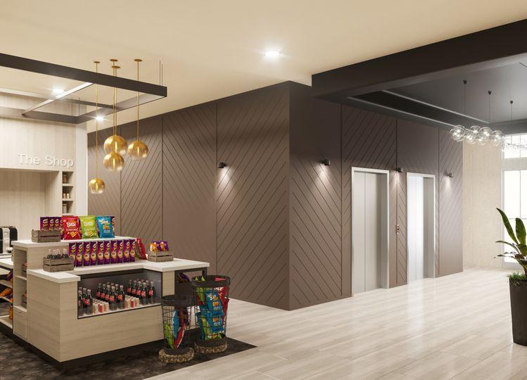 Hotel elevator rendering