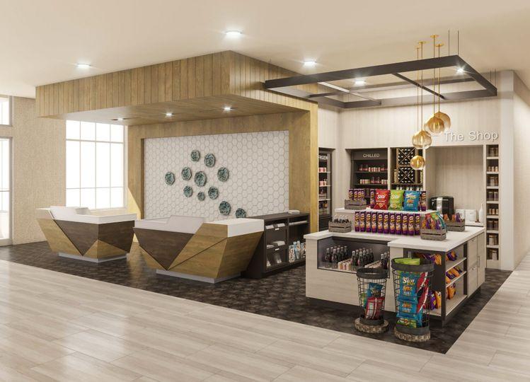 Hotel marketplace rendering