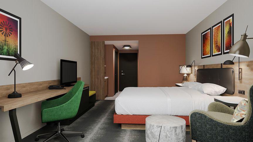 King room rendering - side profile