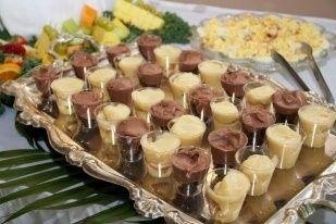 Banana pudding shooters & Godiva brownie shooters