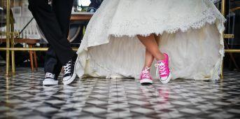 Couple shoes shot