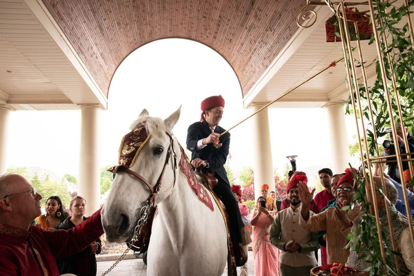 The Groom During The Baraat
