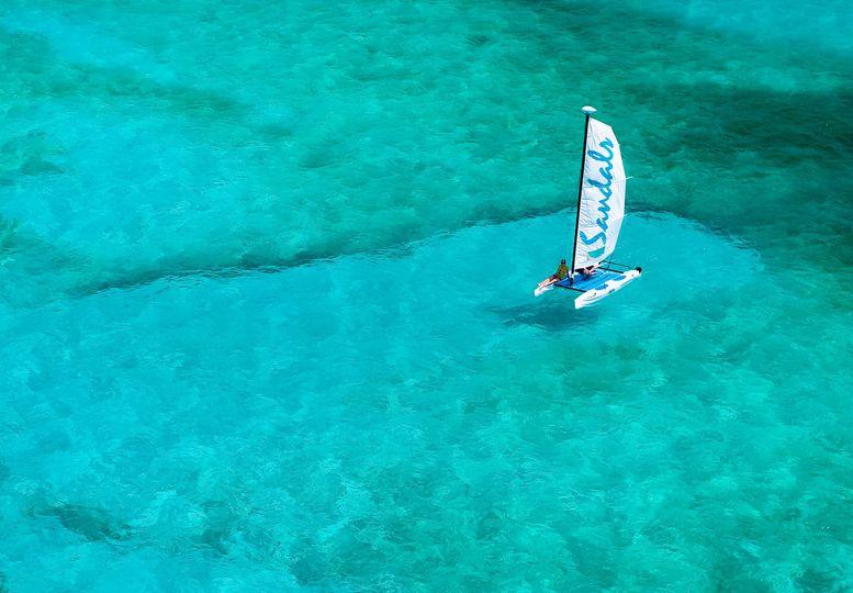 Sail at the sea