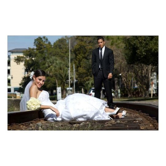 tony & mia  , 3 weeks  after the wedding day ... We shoot some great fashion on the tracks and...