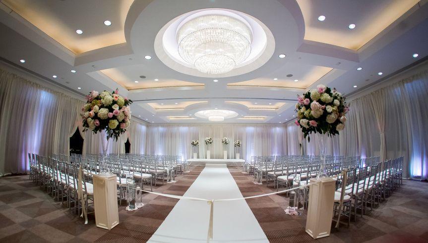 Elegant ceremony setup