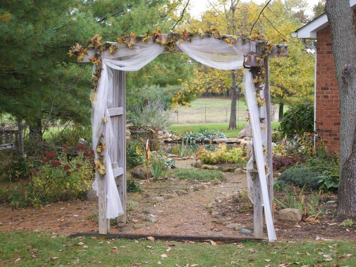The archway of wedding