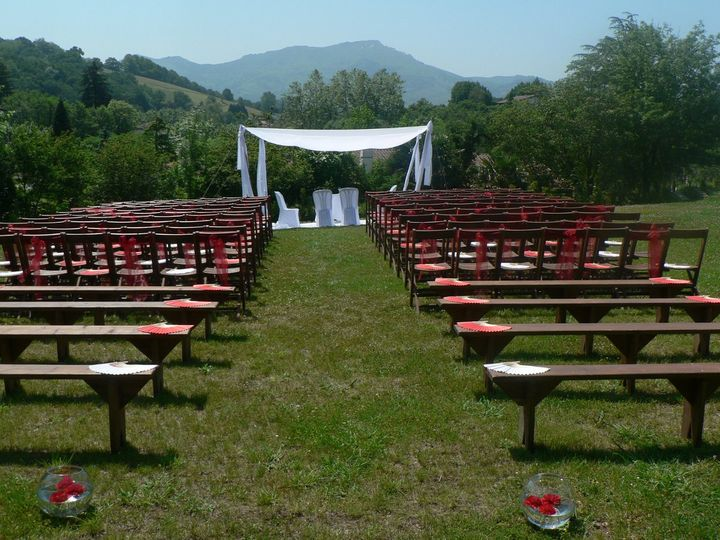 Wedding ceremony setting