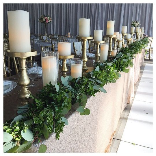 Candles and decorative greens