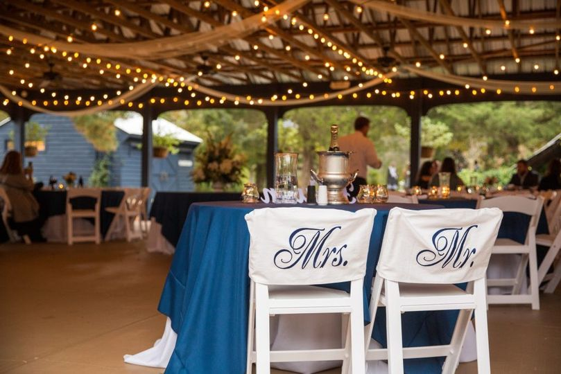 Reception in the Pavilion