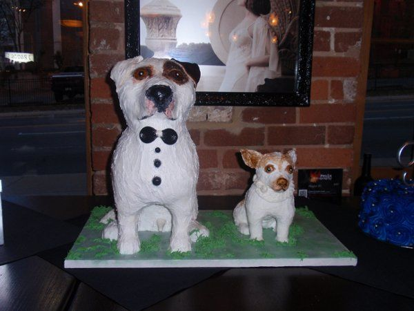 Sculpted Dog cakes for a wedding!
