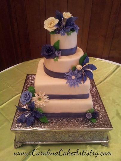 multi purple wedding cake 2012