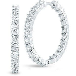 Diamond earrings in 14K white or yellow gold for any occassion!