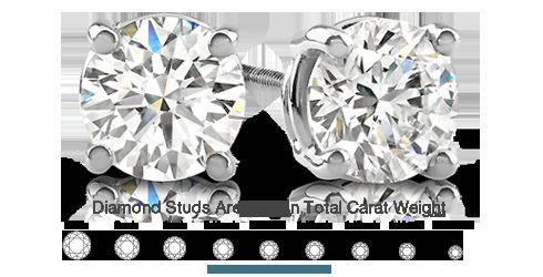 Chastain offers diamond studs in all sizes and qualities!