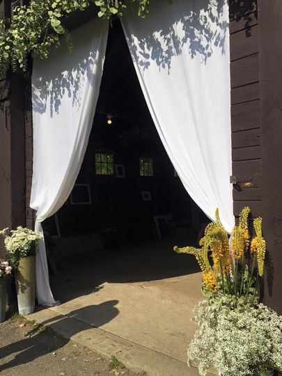 Wedding reception entrance