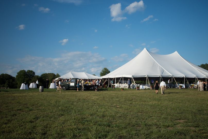 Marquee wedding reception