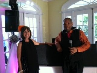 Rev. Deborah Montana and DJ Steadman helping to create a beautiful wedding day at the Winterbourne...