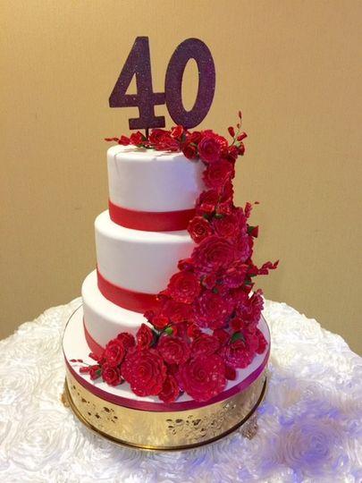 red rose ann cake