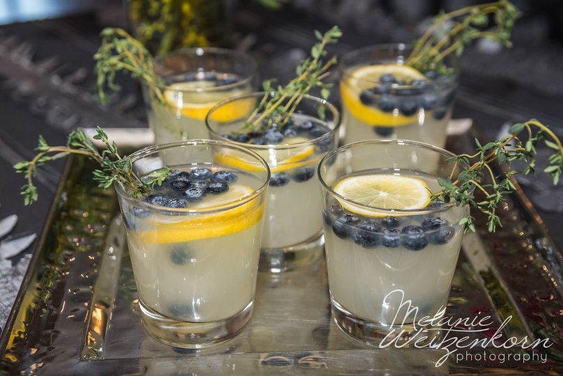 A signature cocktail compliments of Williamson Catering