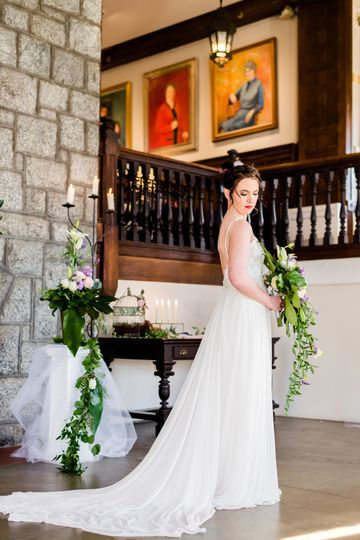 This beautiful bride was photographed by Andrea Krout Photography