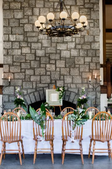 The magnificent fireplace with the chandelier built in 1890 is a great backdrop for photos
