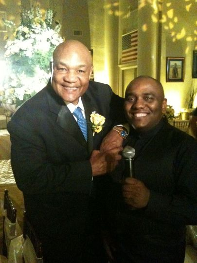Tony with George Foreman at his Daughter's Wedding Reception