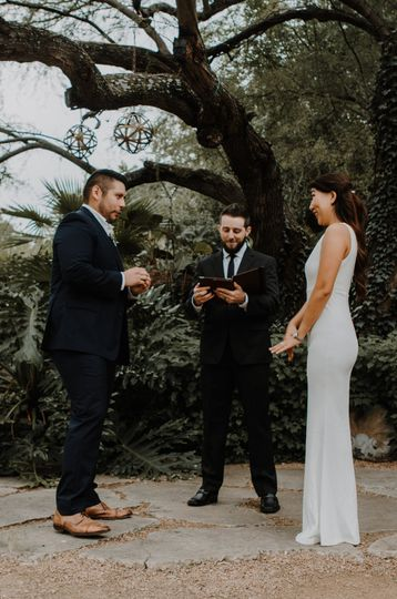 Exchanging their vows - Christy Anna Photography