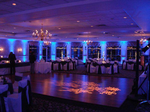 Blue and violet lights