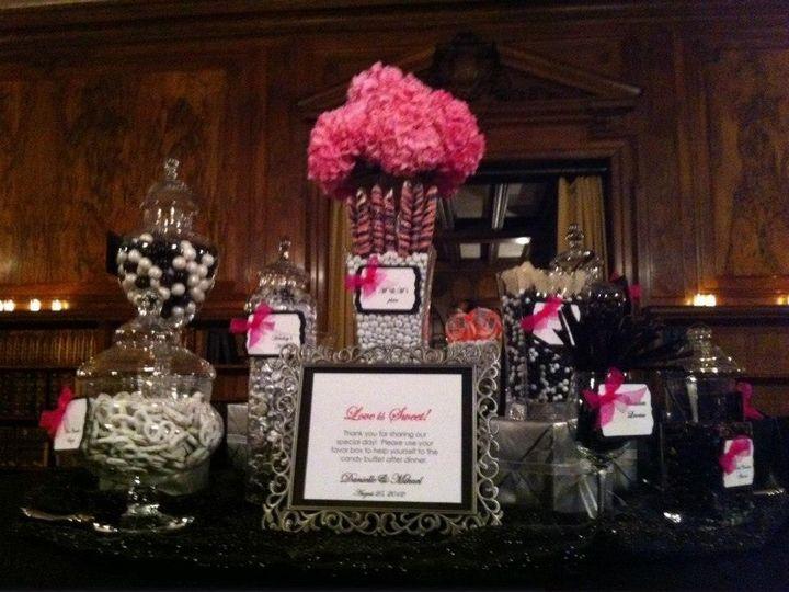 Tmx 1427571530118 Black White Pink Candy Buffet Pine Manor College 6 Marco Island, FL wedding dj