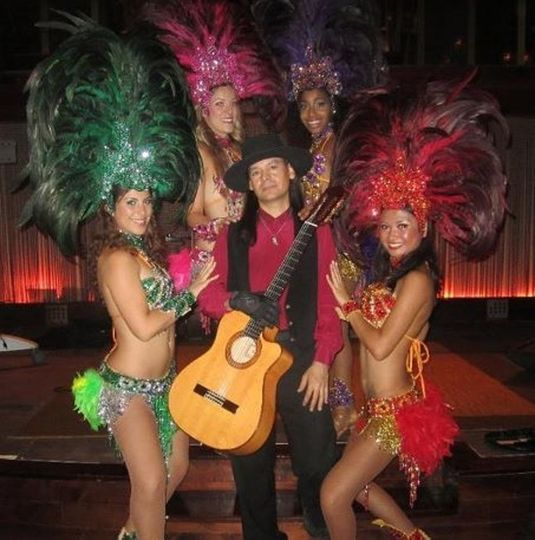 With the Samba Dancers