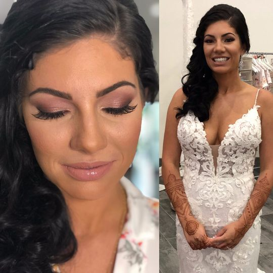 Gorgeous Bridal makeup and ahi