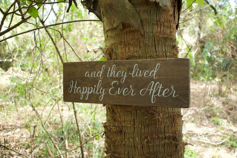 Charming fairy-tale sign