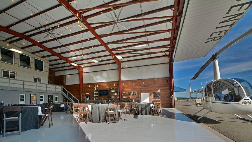 Hangar door open